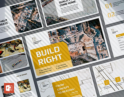 Construction Company PowerPoint Presentation Template