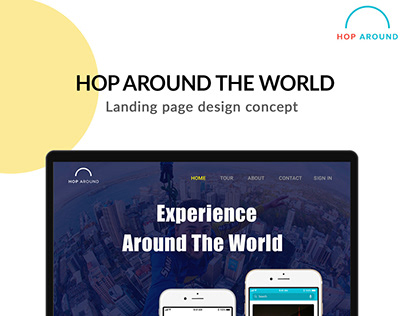 Website- Travel App Advertising Page