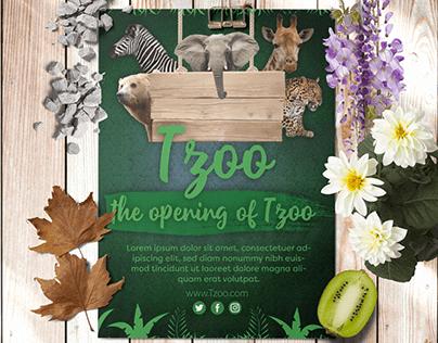 zoo flyer and billboard