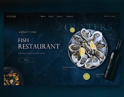 Web banner for restaurant