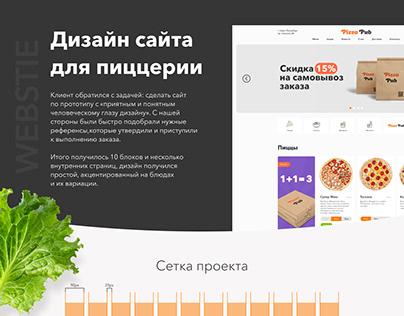 Сайт пиццерии