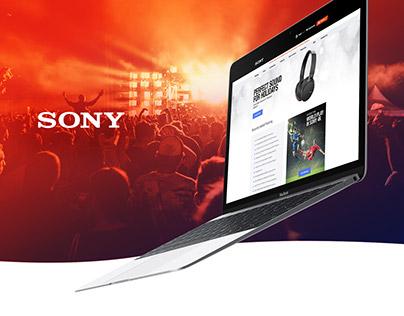 Sony Responsive training platform website