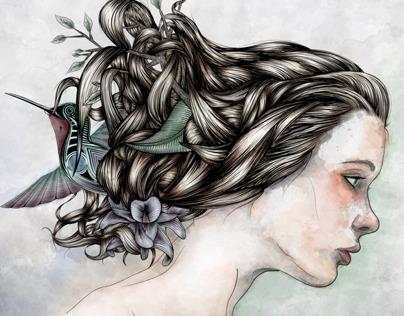 Nature & Hair Illustration