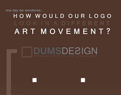 Dums Logo (transformed in each major movement style)