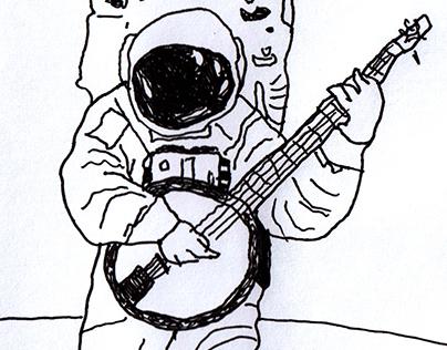 Astronauta com bandolim