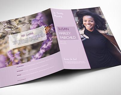 Pastel Purple Memorial Funeral Program Large Word