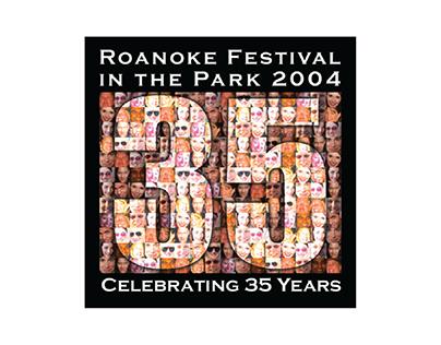 Festival in the Park 2004 (button design)