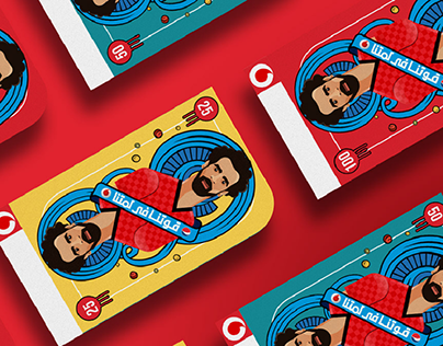 Vodafone & Pepsi Mohamed salah can & cards