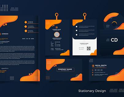 Stationary Design Template.