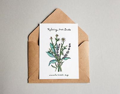 Relaxing Herbs Postcard