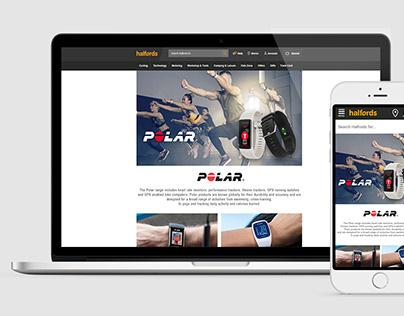 Polar's Halford Brand Page | 2018
