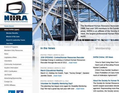 NHRA Website (Mockup)