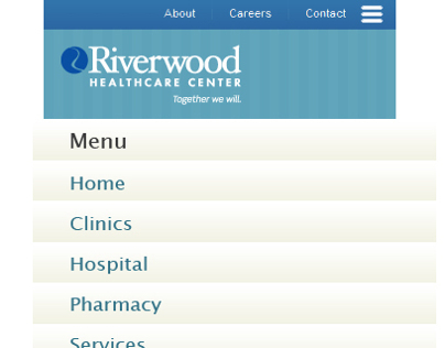 Riverwood Healthcare Center (Mockup)