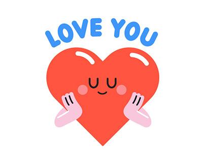 So Cute! Friends Emoticon Pack - 모히톡 아티스트콜라보레이션 이모티콘 팩