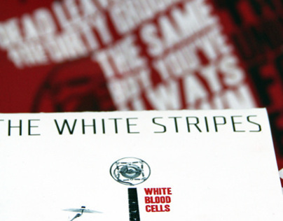 White Stripes & Paula Scher Collaboration CD