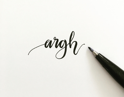 Hand Lettering - an amateur still practicing...