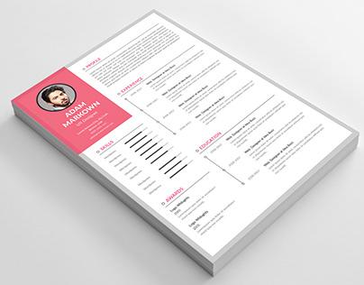 Free Resume template CC2017