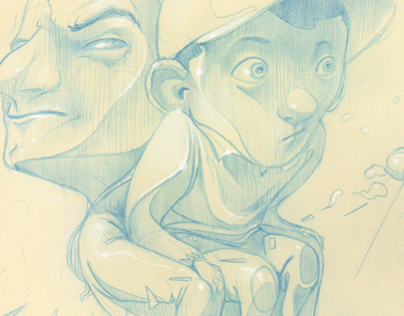 """Sketches """"La crisis de un pintor, su nariz..."""""""