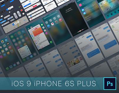 iOS 9 iPhone 6S Plus GUI PSD