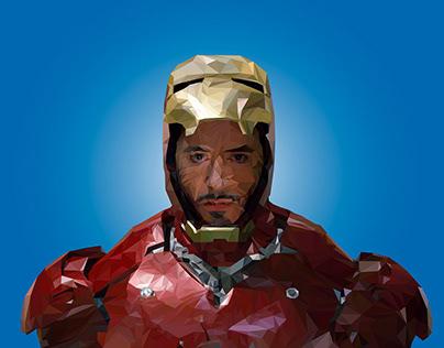 Polygonal Art Iron Man