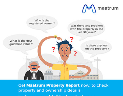 Maatrum Property Report Flyer Design