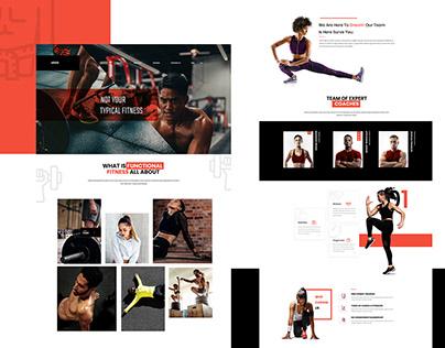 Fitness Website Landing Page