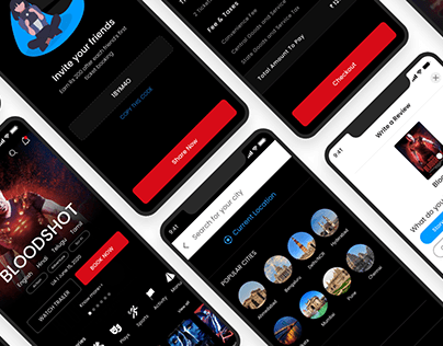 GeTTicket - Free Movie Booking Ticket App UI Kit