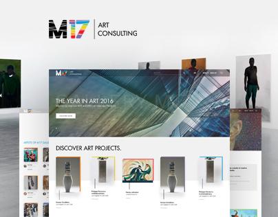 Corporate website for M17 Art Gallery (Ukraine)