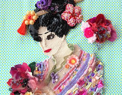 """Appreciate flowers"" Embroidery Art"