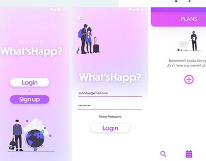 Mobile App Case Study - WhatsHapp