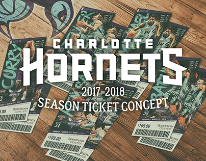 Charlotte Hornets Ticket Concept