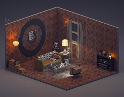 3D MODEL- HARLEY QUINN'S ROOM