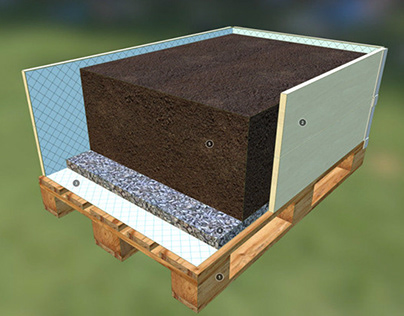 Raised garden bed, 3D model