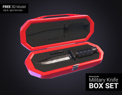 FREE 3D Model - ObserverLabs Military Knife Box Set