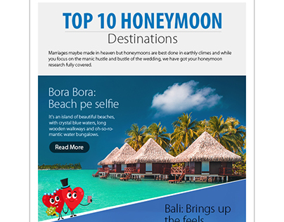 Mailer: Top 10 Honeymoon Destinations