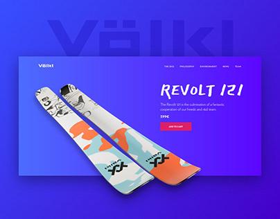 Volkl UX/UI Website Redesign Concept
