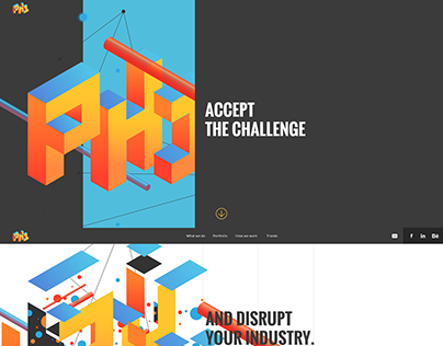PH1 Media agency website and interaction design
