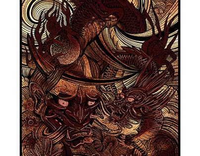 dragon and hannya