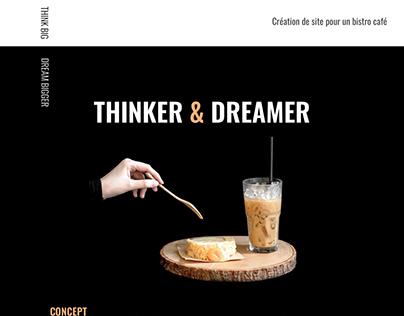 Web Design pour un bistro café