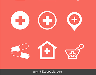 Pharmacy Vector Icons Pack Free Download
