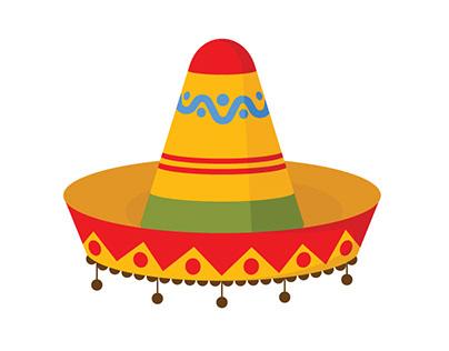 Mexican hat vector art