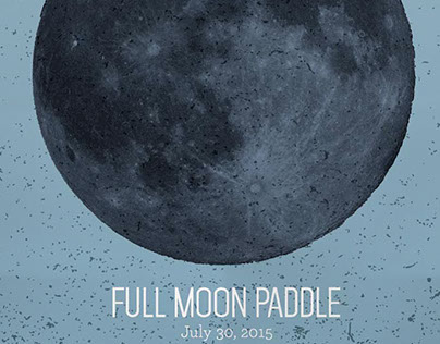 Full Moon Paddle Poster