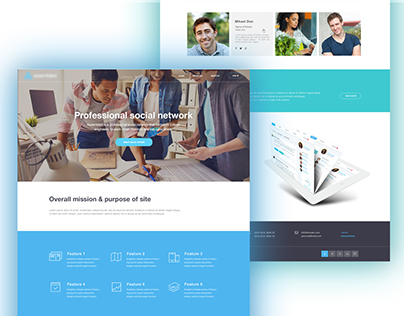 Landing Page for social network