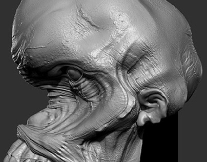 Creature - from 2d sketch to 3d...