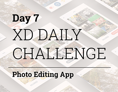 XD Daily Challenge - Photo Editing Mobile App