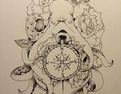 Octopus Tattoo Art