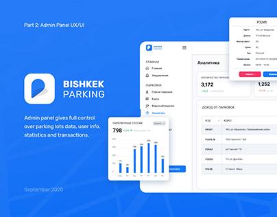 Parking Admin Panel UX/UI