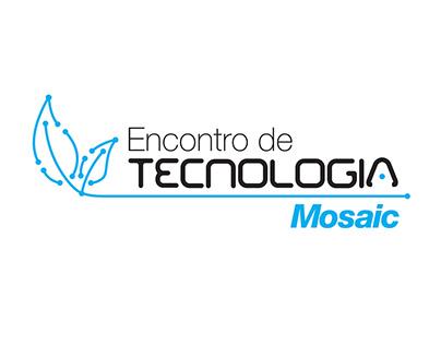 Logo e Banner Encontro de tecnologia Mosaic