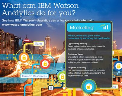 IBM Watson Analytics Interactive infographic