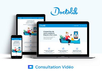 Design Product / Doctolib Consultation vidéo